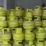 Tumpukan Tabung Kosong Gas LPG 3 KG, Disalah Satu Kios Warga