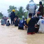 Jalan Utama Desa Terendam Banjir
