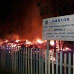 Gedung DPRD Mubar Terbakar