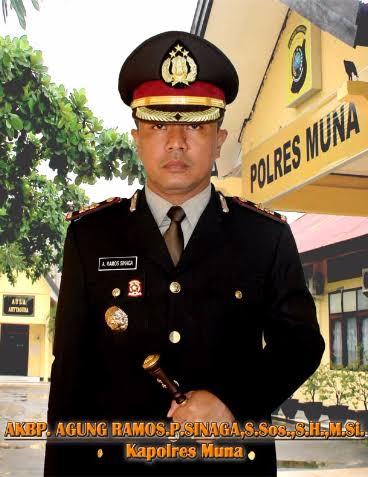 Kapolres Muna, AKBP Agung Ramos P Sinaga