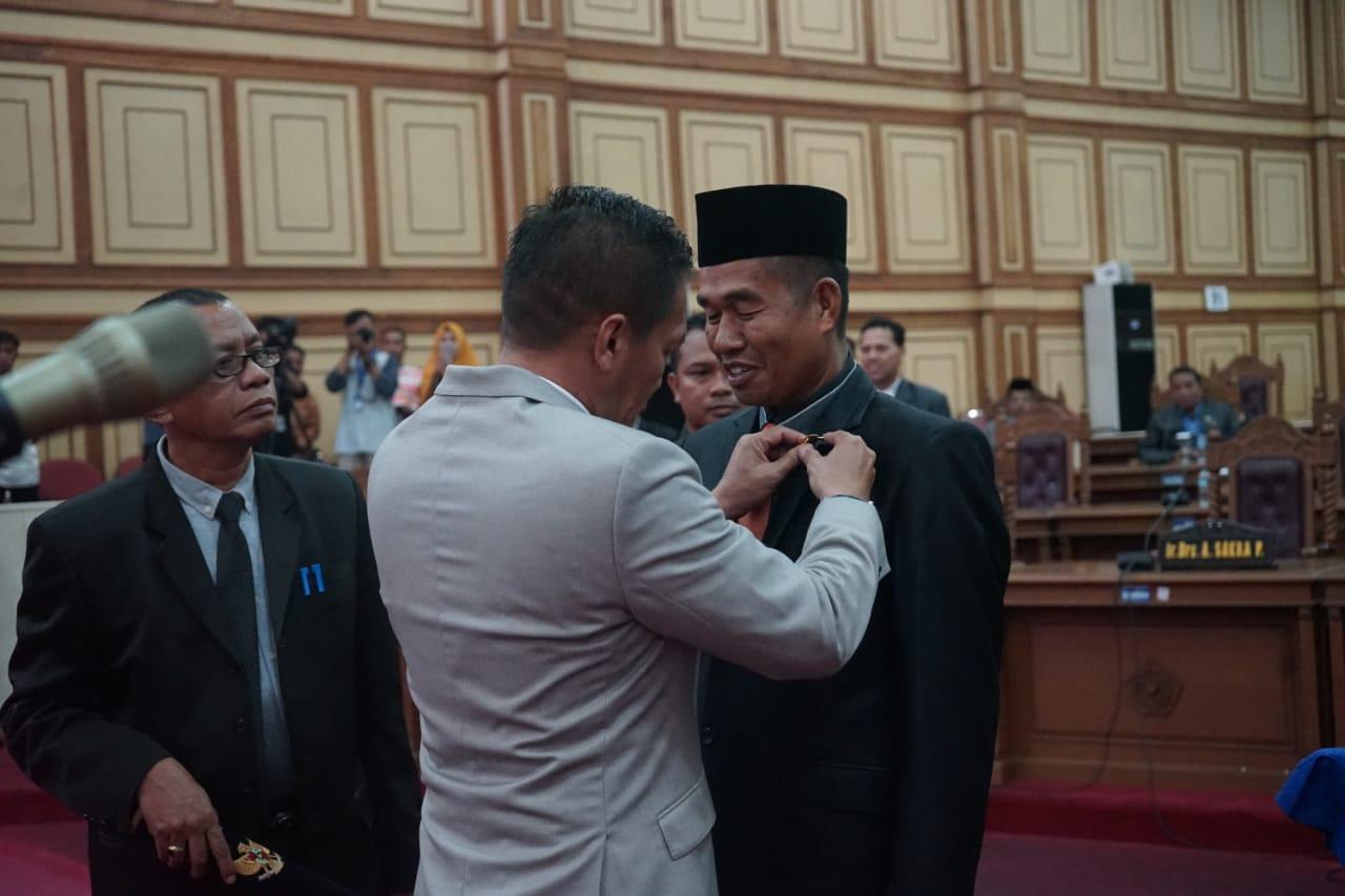Prosesi Pelantikan PAW Anggota DPRD Prov Sultra