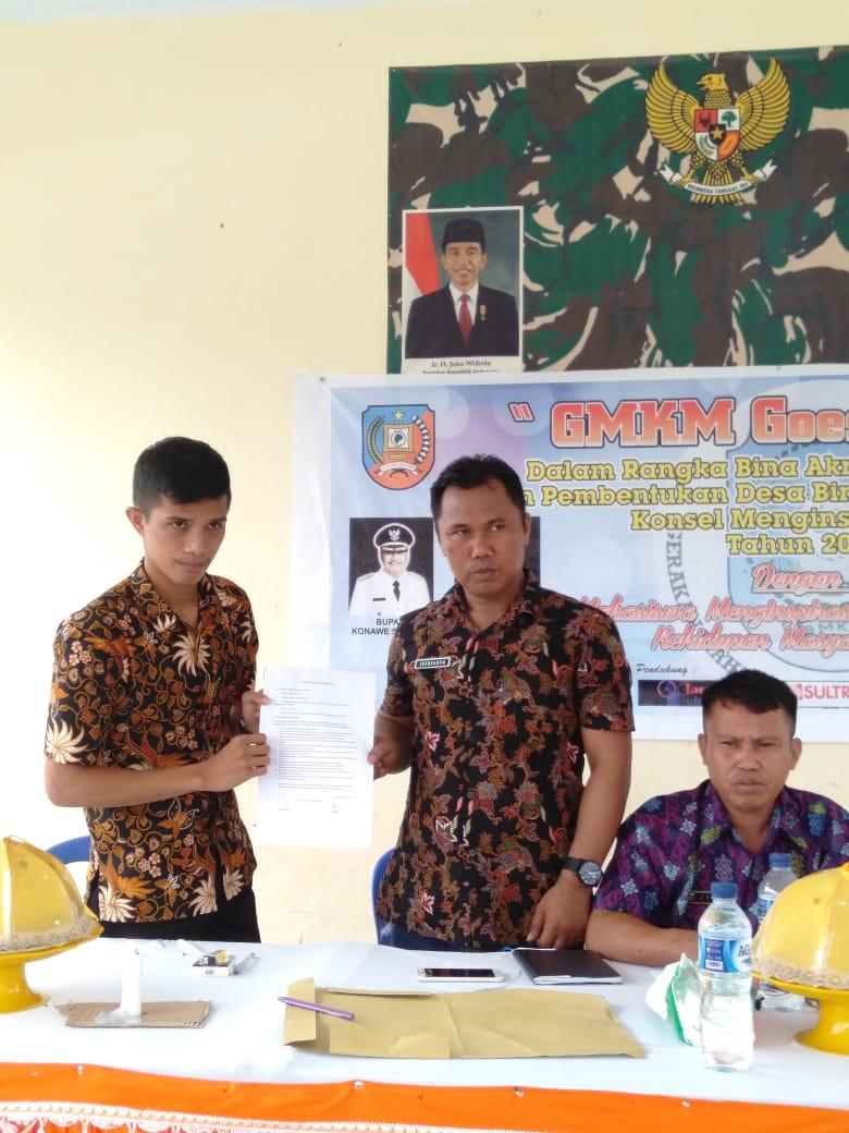Teken MoU, Desa Lomboeya Resmi jadi Desa Binaan GMKM