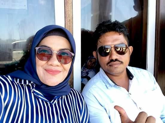 foto terakhir Ilmiati Daud (kiri) bertemu jafarudin (kanan) saat di acara festival kaledupa 2018 lalu
