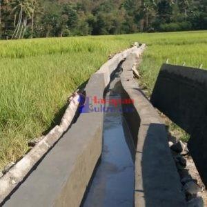 Proyek Irigasi Pengembangan Jaringan Irigasi Di Desa Haju Wangi Mulai Dikerjakan