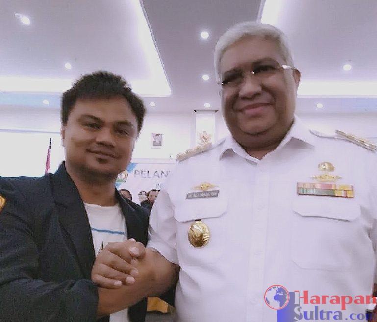 Muhammad Arham [kiri] bersama Gubernur Sulawesi Tenggara [Kanan] / Foto : Istimewa