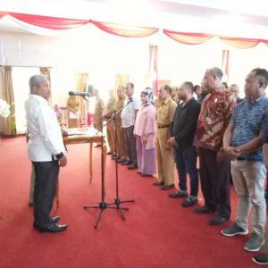 DPRD Muna menggelar gladi pelantikan Anggota DPRD terpilih Periode 2019-2024