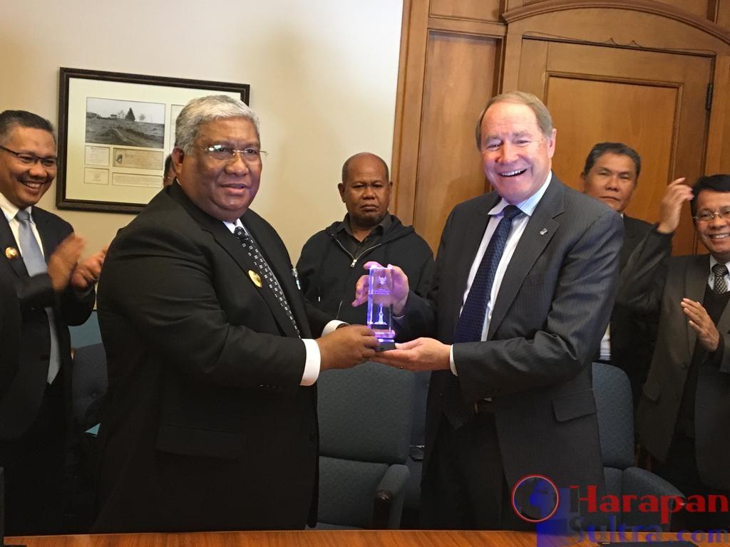 Di Amerika Serikat, Gubernur Sultra Tandatangani MOU dengan Universitas Rhode Island