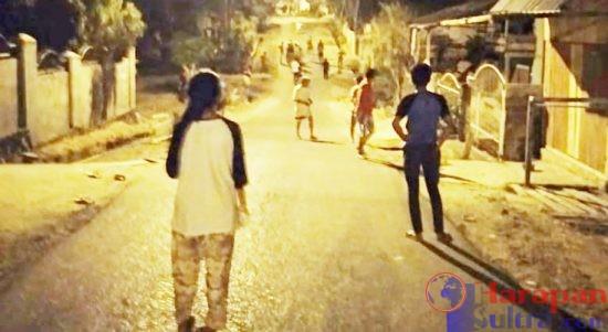 Aksi Tawuran atar Pemuda dan Remaja di Lorong Peka, Kota Raha