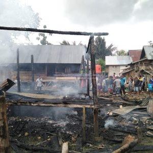 Ketgem : Rumah Milik Sitti Aisyah yang Ludes Dilahap Si Jago Merah Foto : Borju / Harapansultra.com