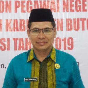 Kepala Badan Kepegawaian dan Pengembangan Sumber Daya Manusia (BKPSDM) Kabupaten Buton Selatan, La Ode Firman Hamza, S.Pd., MM