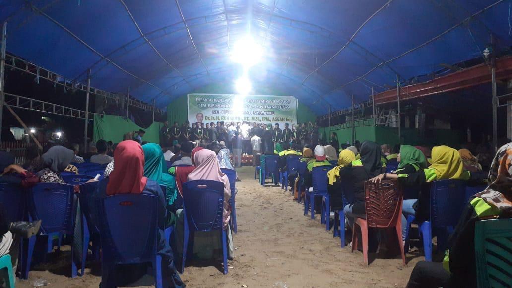 Suasana Pengukuhan Tim Relawan Kecamatan dan Desa se Kecamatan Molawe