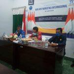 Ketgam : Kepala BNN Kabupaten Muna, La Hasariy, SKM. M.Kes besama wakil bupati Muna dan wakil ketua DPRD Muna