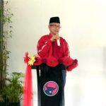 Ketgam : Lukman Abunawas saat berpidato dihadapan kader PDIP Kabupaten Buton Utara