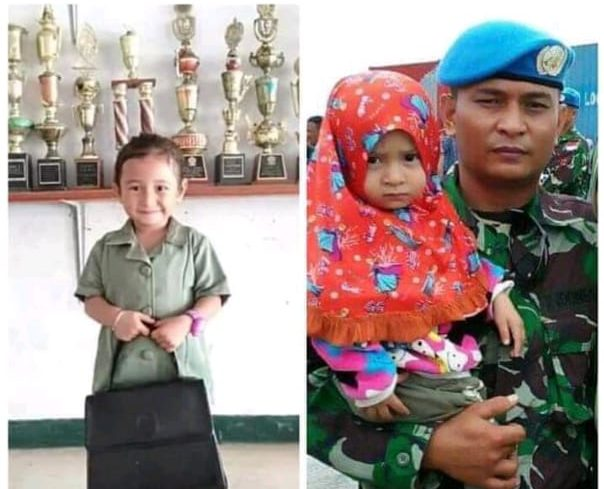 Almarhum Serda Nasaruddin dan Puterinya