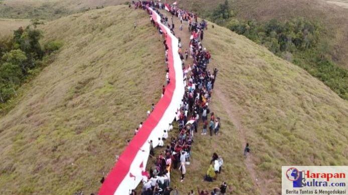 Pembentangan Bendera Merah Putih sepanjang 75 Meter