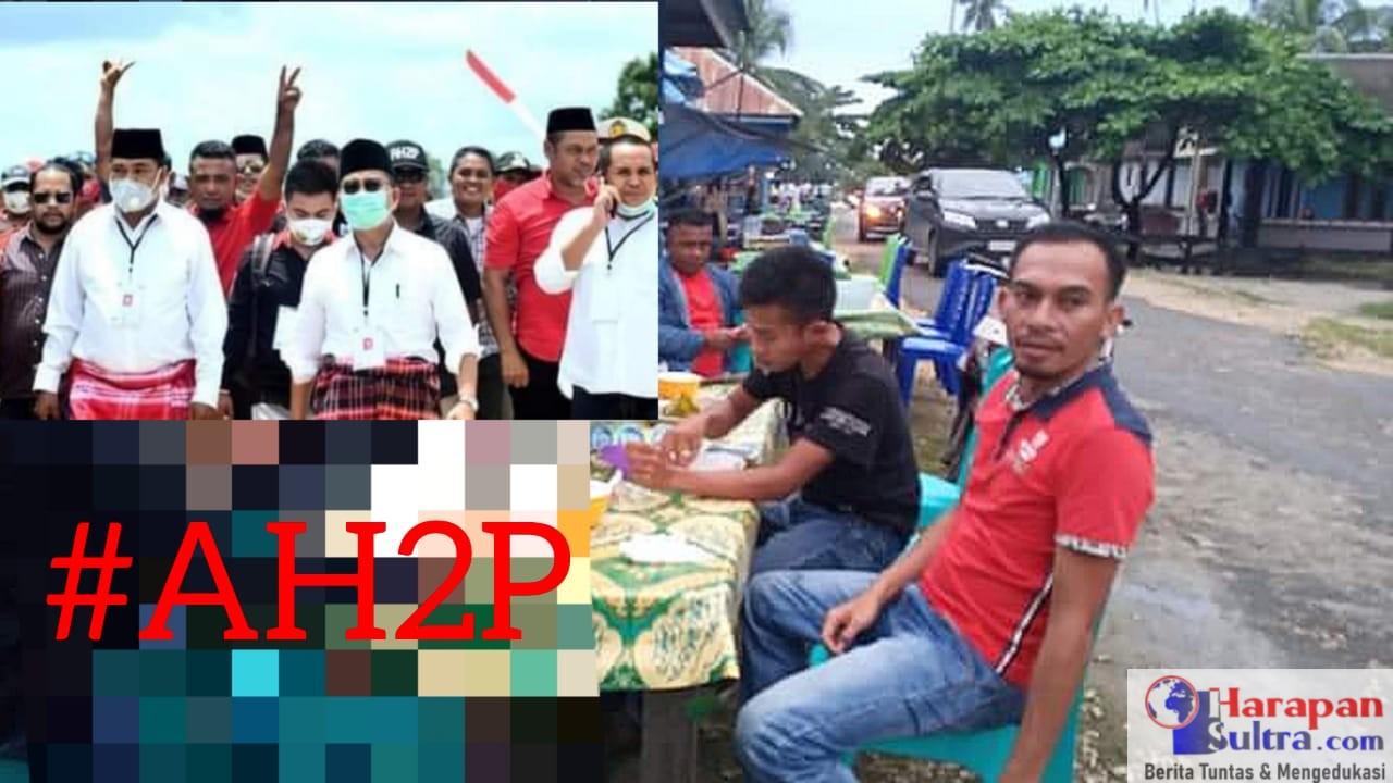 Hazimuddin SH (Berbaju Merah/Kanan), Ketua Sementara Relawan AH2P
