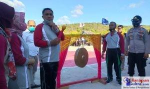 Bupati Buton Selatan, H. Laode Arusani saat membuka pelaksanaan Tournament