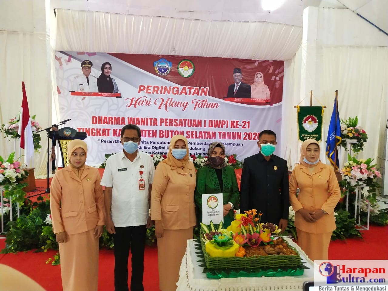 Foto Bersama usai pelaksanaan HUT DWP Kabupaten Busel