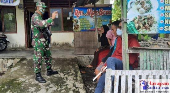 Sosialisasi yang dilakukan Anggota TNI-AD