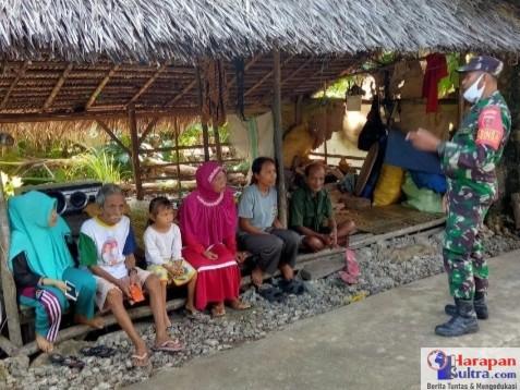 Serda TNI Salahudin saat Sosialisai kepada warga binaannya