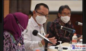 Sekjen Kemendes PDTT, Taufik Madjid saat membuka Kick off Meeting, Foto : Wening/Humas Kemendes PDTT