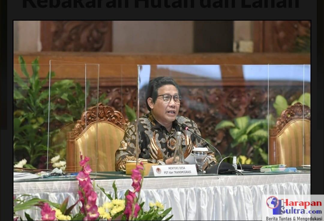 Mendes PDTT, Abdul Halim Iskandar . Foto : Mugi/Humas Kemendes PDTT