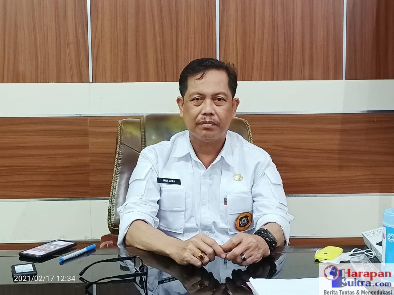Sekretaris Daerah Bombana, Drs. Man Arfa, M.Si