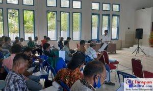 Abady Makmur saat menjadi pemateri Kegiatan Bimbingan Teknik Cara pendataan SDGs