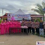 Foto Bersama Kapolsek dan Personil beserta Bahayangkari