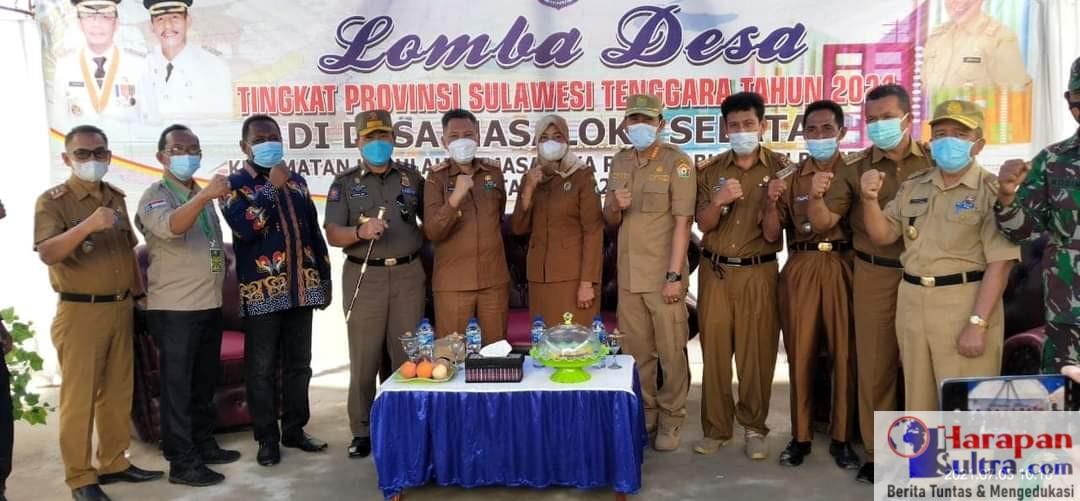 Foto bersama Tim Penilai Lomba Desa dan Kelurahan Tingkat Provinsi Sulawesi Tenggara