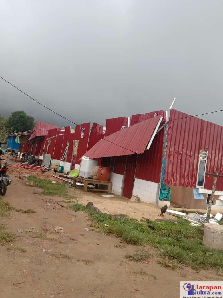 Rumah Baruga Moico alami kerusakan parah akibat diterjang angin kencang