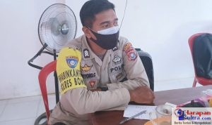 Brigadir Patriyono Cornelius anggota Polsek Rumbia yang juga Bhabinkamtibmas Kelurahan Lameroro