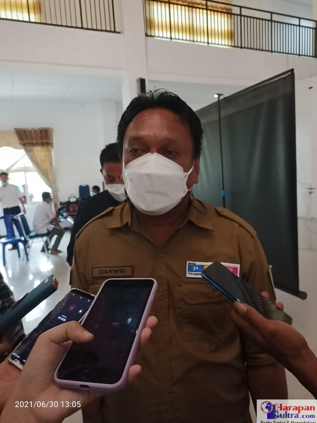 Kepala Dinas Kesehatan Kabupaten Bombana, Darwin Ismail, SE