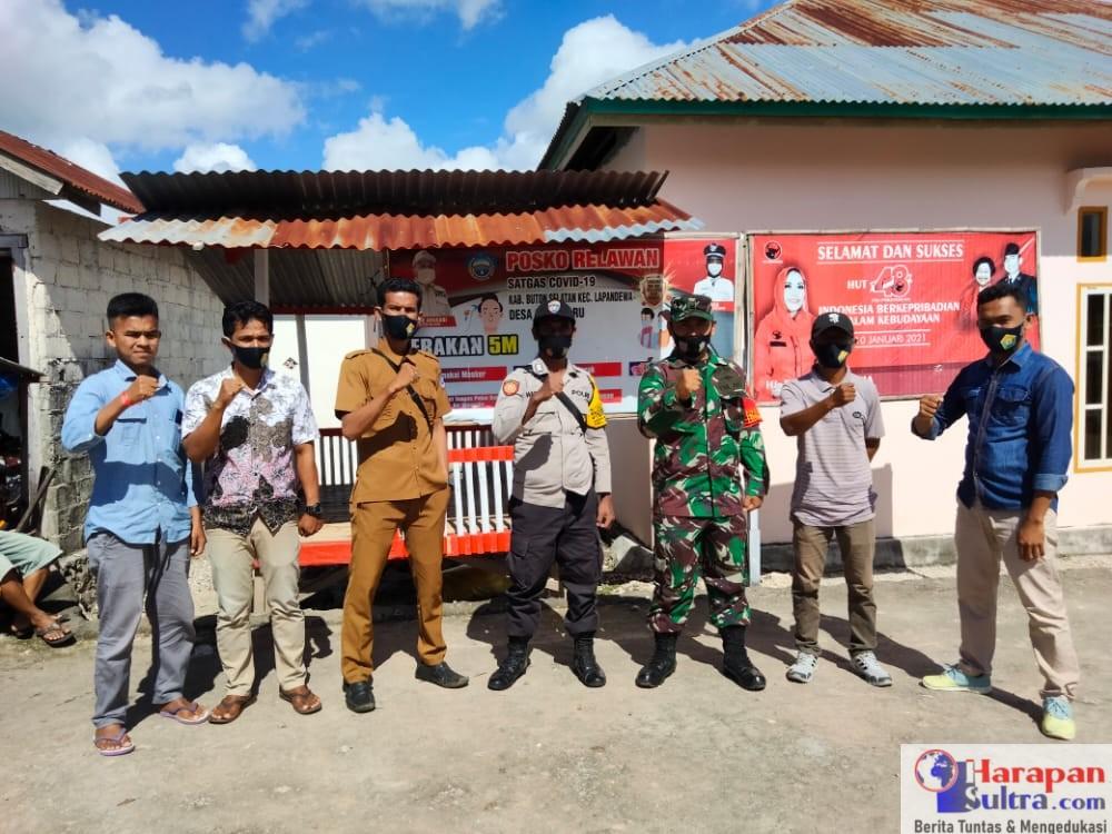 Kegiatan Penjagaan Posko Penanganan dan Pencegahan Covid-19 Desa Gaya Baru Tahun 2021