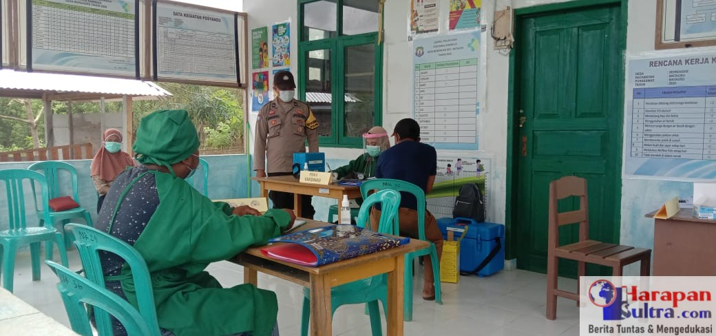 Pelaksanaan Pekan Vaksin di Desa Morengke Matausu